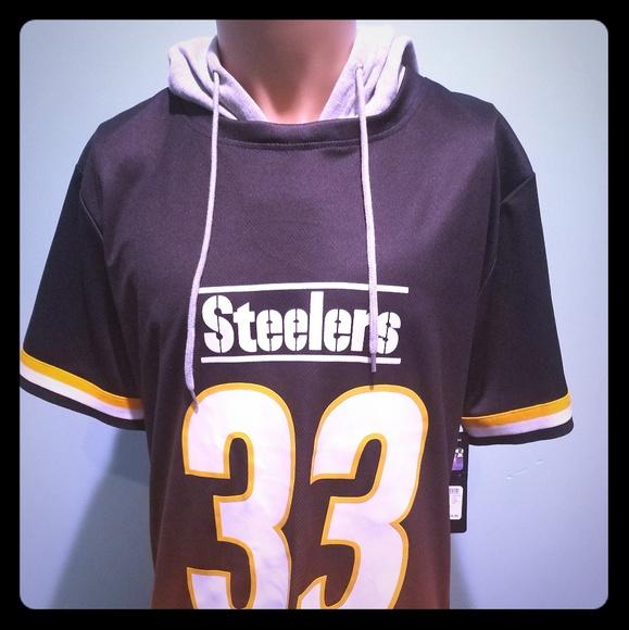 9e3ed203623 New Pittsburgh Steelers Hooded Jersey Medium